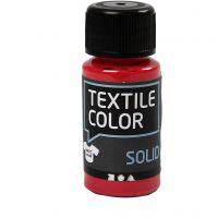 Textile Solid, opaque, rouge, 50 ml/ 1 flacon