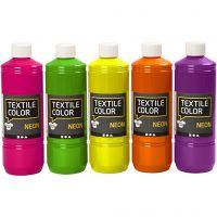 Peinture Textile Color, couleurs assorties, 5x500 ml/ 1 Pq.