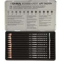 Crayons de dessin Lyra Art Design - Set, dureté F, 12 pièce/ 1 Pq.