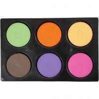 Gouache - Assortiment, H: 16 mm, d: 44 mm, couleur extra, 1 set