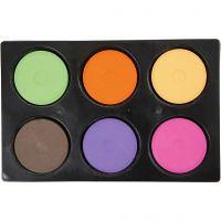 Gouache - Assortiment, H: 19 mm, d: 57 mm, couleur extra, 1 set
