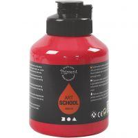 Peinture Pigment Art School, semi transparent, rouge primaire, 500 ml/ 1 flacon