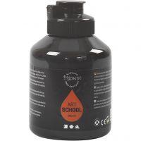 Peinture Pigment Art School, opaque, noir, 500 ml/ 1 flacon