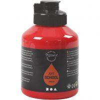 Peinture Pigment Art School, transparent, rouge cadmium, 500 ml/ 1 flacon