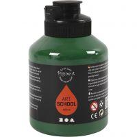 Peinture Pigment Art School, semi transparent, vert foncé, 500 ml/ 1 flacon