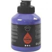 Peinture Pigment Art School, semi transparent, violet blue, 500 ml/ 1 flacon