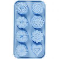 Moule en silicone, petits gâteaux, diamètre intérieur 40x45 mm, 25 ml, 1 pièce