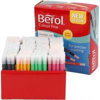 Feutres Berol Colourfine, trait 0,3-0,7 mm, couleurs assorties, 288 pièce/ 1 Pq.