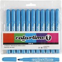 Feutres Colortime, trait 5 mm, bleu clair, 12 pièce/ 1 Pq.