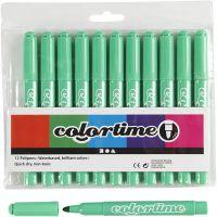 Feutres Colortime, trait 5 mm, vert clair, 12 pièce/ 1 Pq.