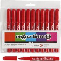 Feutres Colortime, trait 5 mm, rouge, 12 pièce/ 1 Pq.