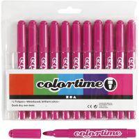 Feutres Colortime, trait 5 mm, rose, 12 pièce/ 1 Pq.