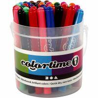 Feutres Colortime, trait 5 mm, couleurs assorties, 42 pièce/ 1 Pq.
