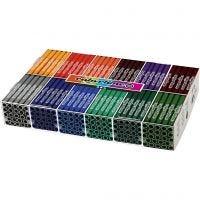 Feutres Colortime, trait 5 mm, couleur extra, 12x24 pièce/ 1 Pq.