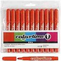 Feutres Colortime, trait 5 mm, orange foncé, 12 pièce/ 1 Pq.
