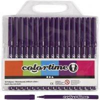 Feutres Colortime, trait 2 mm, violet, 18 pièce/ 1 Pq.