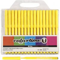 Feutres Colortime, trait 2 mm, jaune citron, 18 pièce/ 1 Pq.