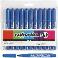 Feutres Colortime, trait 5 mm, Azure, 12 pièce/ 1 Pq.
