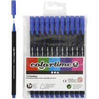 Feutre Colortime Fineliner, trait 0,6-0,7 mm, bleu foncé, 12 pièce/ 1 Pq.