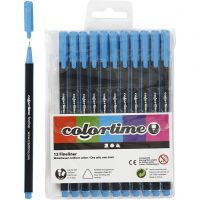 Feutre Colortime Fineliner, trait 0,6-0,7 mm, bleu clair, 12 pièce/ 1 Pq.