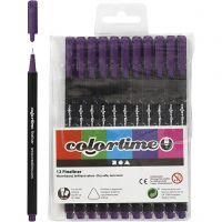 Feutre Colortime Fineliner, trait 0,6-0,7 mm, violet, 12 pièce/ 1 Pq.