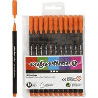 Feutre Colortime Fineliner, trait 0,6-0,7 mm, orange, 12 pièce/ 1 Pq.