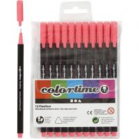 Feutre Colortime Fineliner, trait 0,6-0,7 mm, rose, 12 pièce/ 1 Pq.