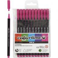 Feutre Colortime Fineliner, trait 0,6-0,7 mm, cyclamen, 12 pièce/ 1 Pq.