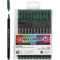 Feutre Colortime Fineliner, trait 0,6-0,7 mm, vert foncé, 12 pièce/ 1 Pq.