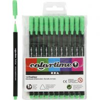 Feutre Colortime Fineliner, trait 0,6-0,7 mm, vert clair, 12 pièce/ 1 Pq.