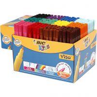 Feutre Visa fin, trait 1,6 mm, couleurs assorties, 12x24 pièce/ 1 Pq.