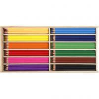 Crayons de couleur, mine 3 mm, couleurs assorties, 144 pièce/ 1 Pq.