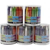 Crayon de cire Colortime, 5x48 ass./ 1 set