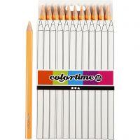 Crayons de couleur Colortime , L: 17,45 cm, mine 5 mm, JUMBO, beige clair, 12 pièce/ 1 Pq.