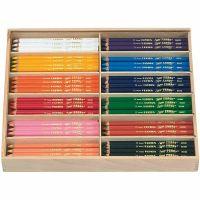 Crayons de couleur Lyra Super Ferby 1, L: 18 cm, mine 6,25 mm, couleurs assorties, 12x12 pièce/ 1 Pq.