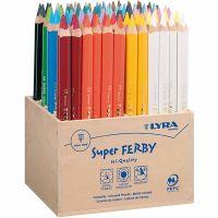 Crayons de couleur Lyra Super Ferby 1, L: 18 cm, mine 6,25 mm, couleurs assorties, 96 pièce/ 1 Pq.