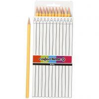 Crayons de couleur Colortime, L: 17 cm, mine 3 mm, beige clair, 12 pièce/ 1 Pq.
