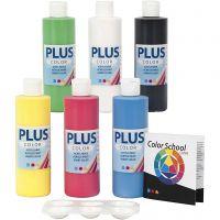 Peinture acrylique Plus Color, couleur primaire, 6x250 ml/ 1 Pq.