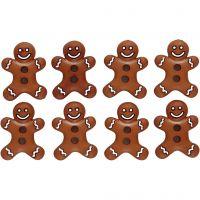 Boutons originaux, biscuit glacés, H: 23 mm, L: 17 mm, 8 pièce/ 1 Pq.