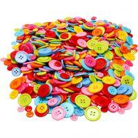 Boutons Mix, d: 10+15+20+22 mm, 500 gr/ 1 Pq.