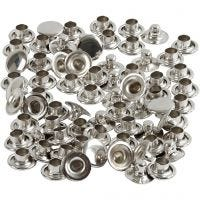 Rivets, d: 7 mm, argent, 50 pièce/ 1 Pq.