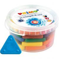 crayons de cire PRIMO, couleurs assorties, 30 pièce/ 1 Pq.