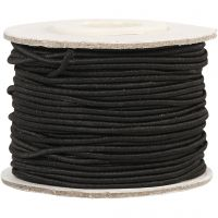 Cordon élastique, ép. 1 mm, noir, 25 m/ 1 rouleau