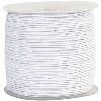 Cordon élastique, ép. 1 mm, blanc, 250 m/ 1 rouleau