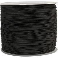 Cordon élastique, ép. 1 mm, noir, 250 m/ 1 rouleau