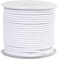 Cordon élastique, ép. 2 mm, blanc, 25 m/ 1 rouleau