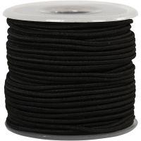 Cordon élastique, ép. 2 mm, noir, 25 m/ 1 rouleau