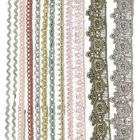 Rubans dentelle, L: 10-25 mm, couleurs assorties, 12x3 m/ 1 Pq.