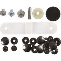 Boutons pression - Starter set, d: 15 mm, 1 set