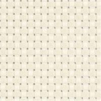 Toile point de croix Aida, dim. 50x50 cm, 35 pts/10 cm, blanc cassé, 1 pièce